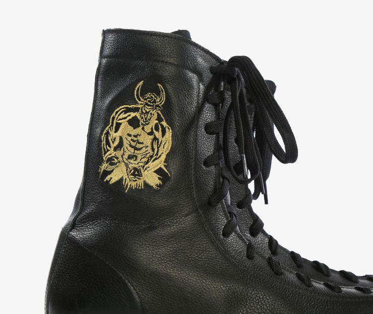Minotaur Black & Gold Boxing Boots