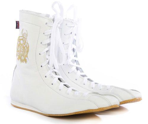 Minotaur White & Gold Boxing Boot