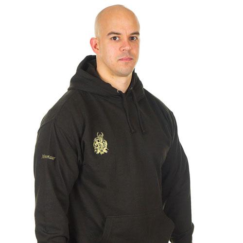 Minotaur black hoodie